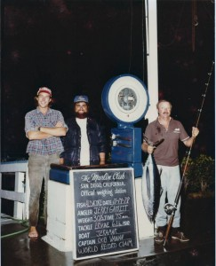 Bob Vanian and John Everett with Jerry Garrett for Jerry's World Record Claim 30.5 pound albacore on 6 pound test.
